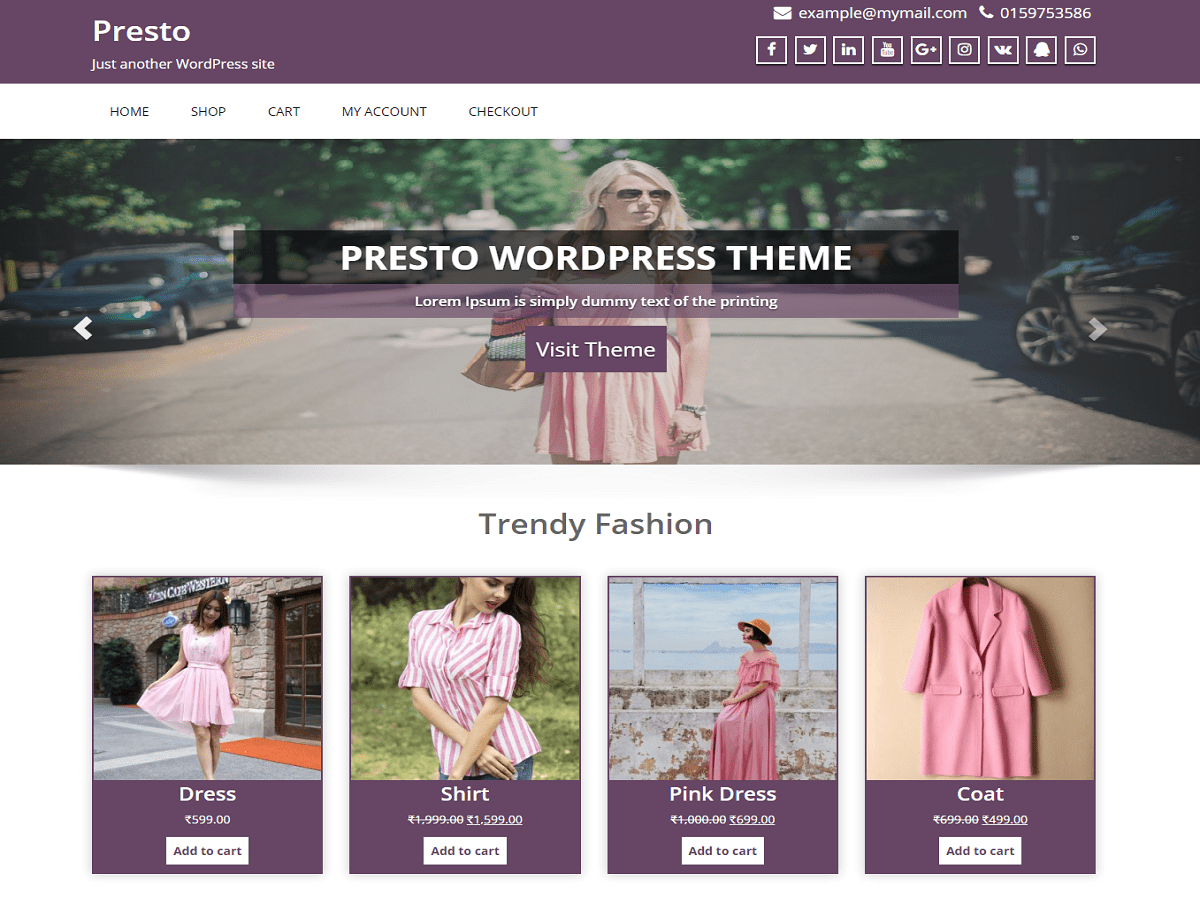 Presto Download Free Wordpress Theme 2