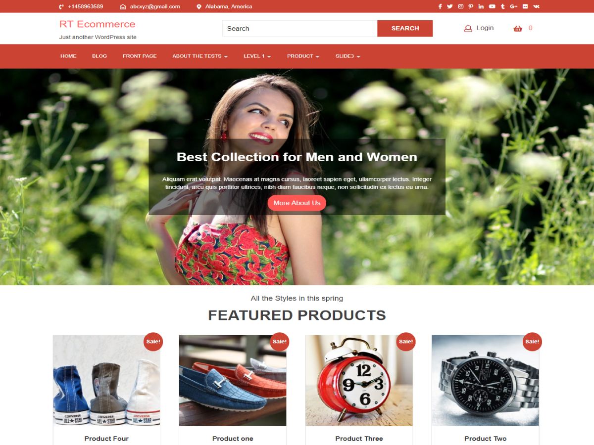 RT Ecommerce Download Free Wordpress Theme 4