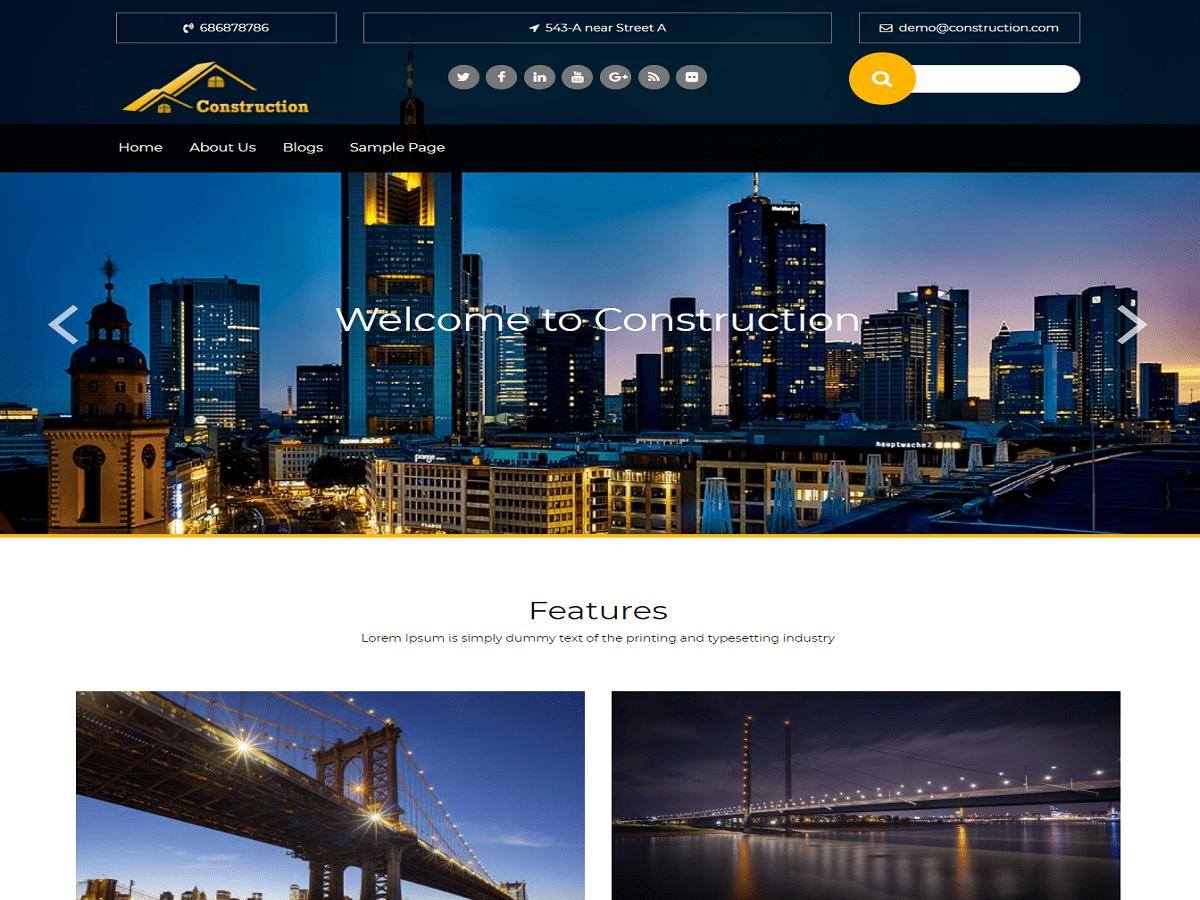 wp-construction Download Free Wordpress Theme 2
