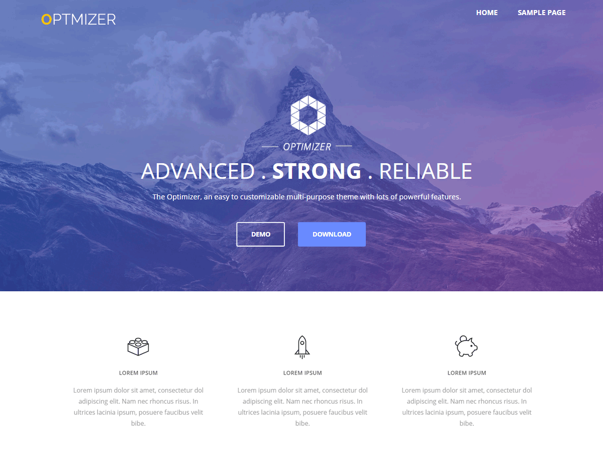 Optimizer Download Free Wordpress Theme 1