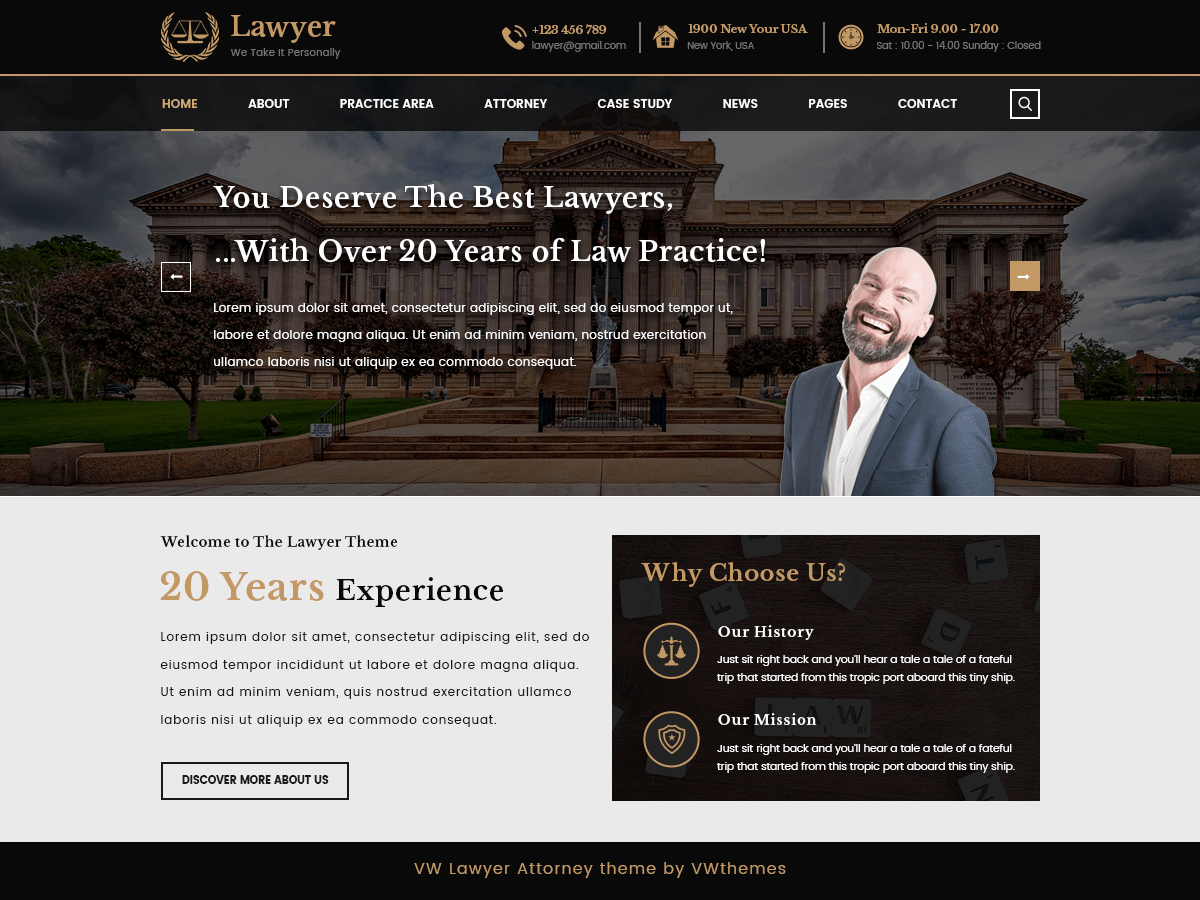 VW Lawyer Attorney Download Free Wordpress Theme 5
