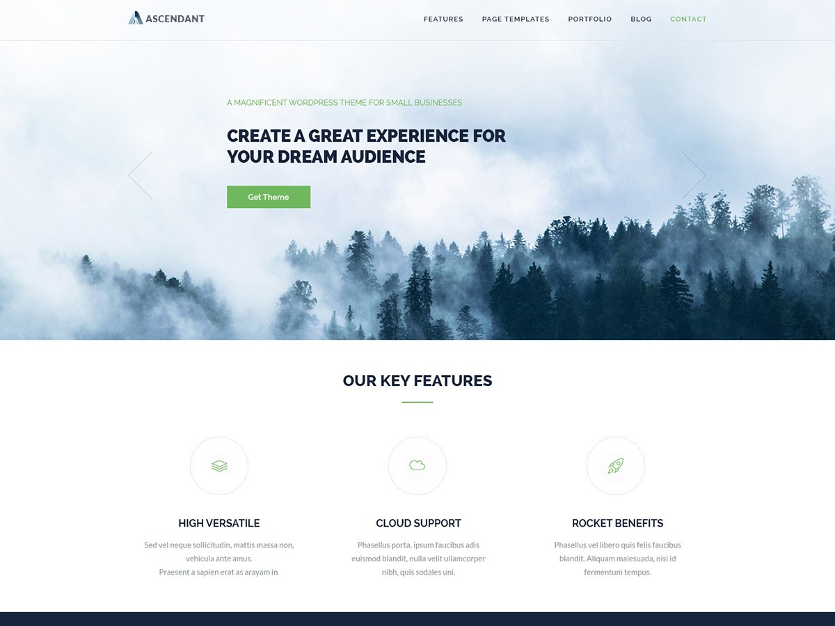 Ascendant Download Free Wordpress Theme 3