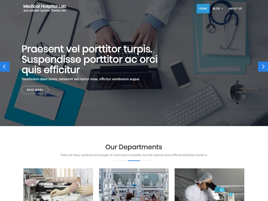 Medical Hospital Lab Download Free Wordpress Theme 4