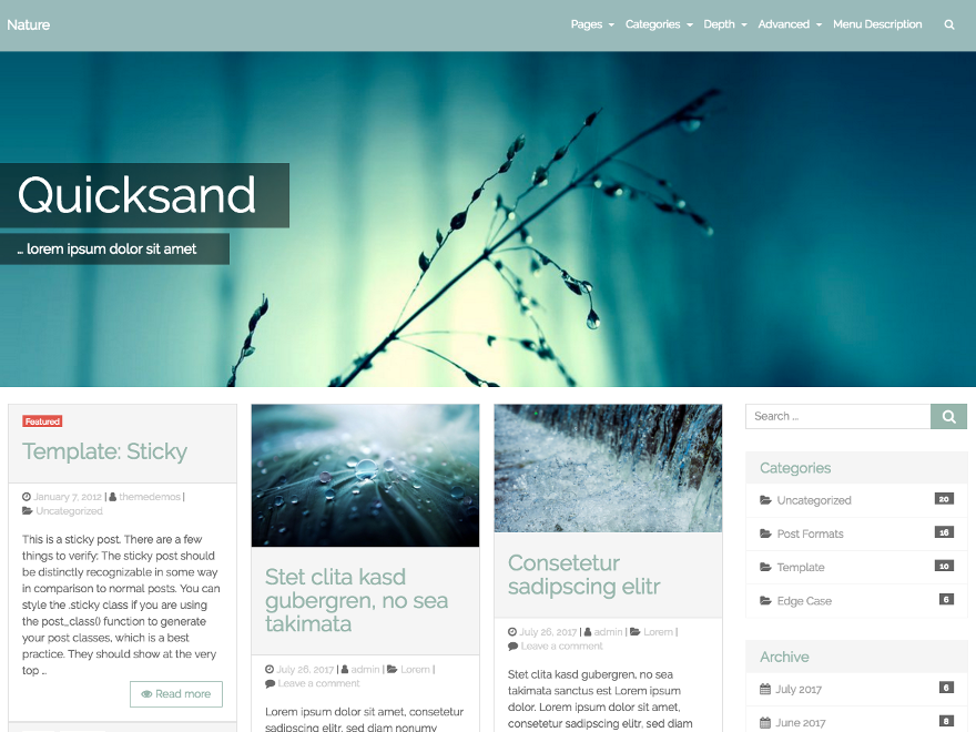 Quicksand Download Free Wordpress Theme 4