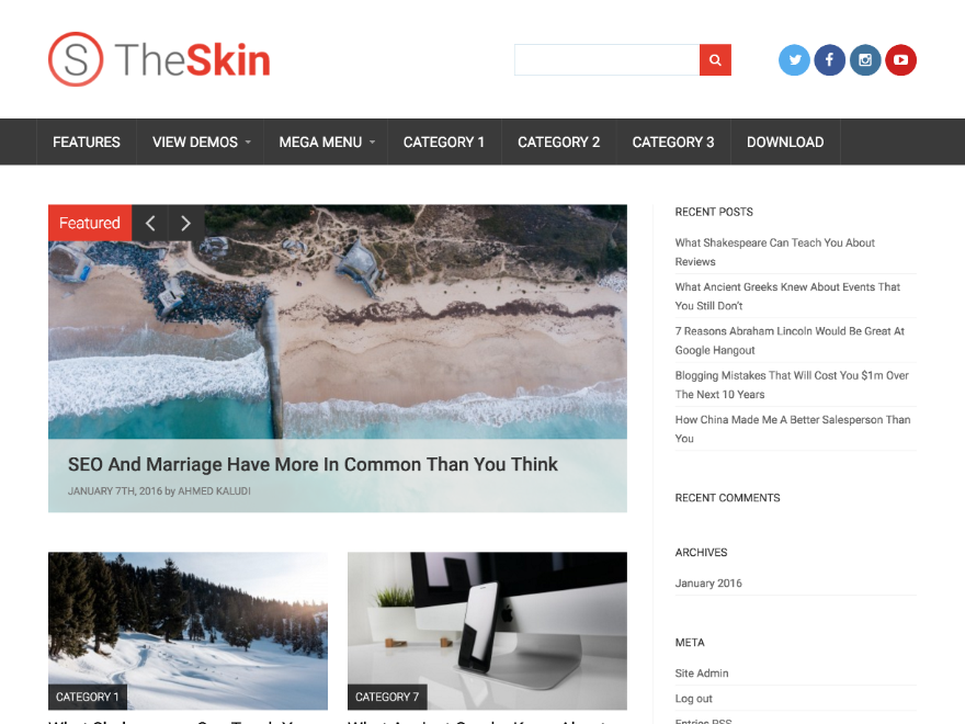 Skin Download Free Wordpress Theme 2