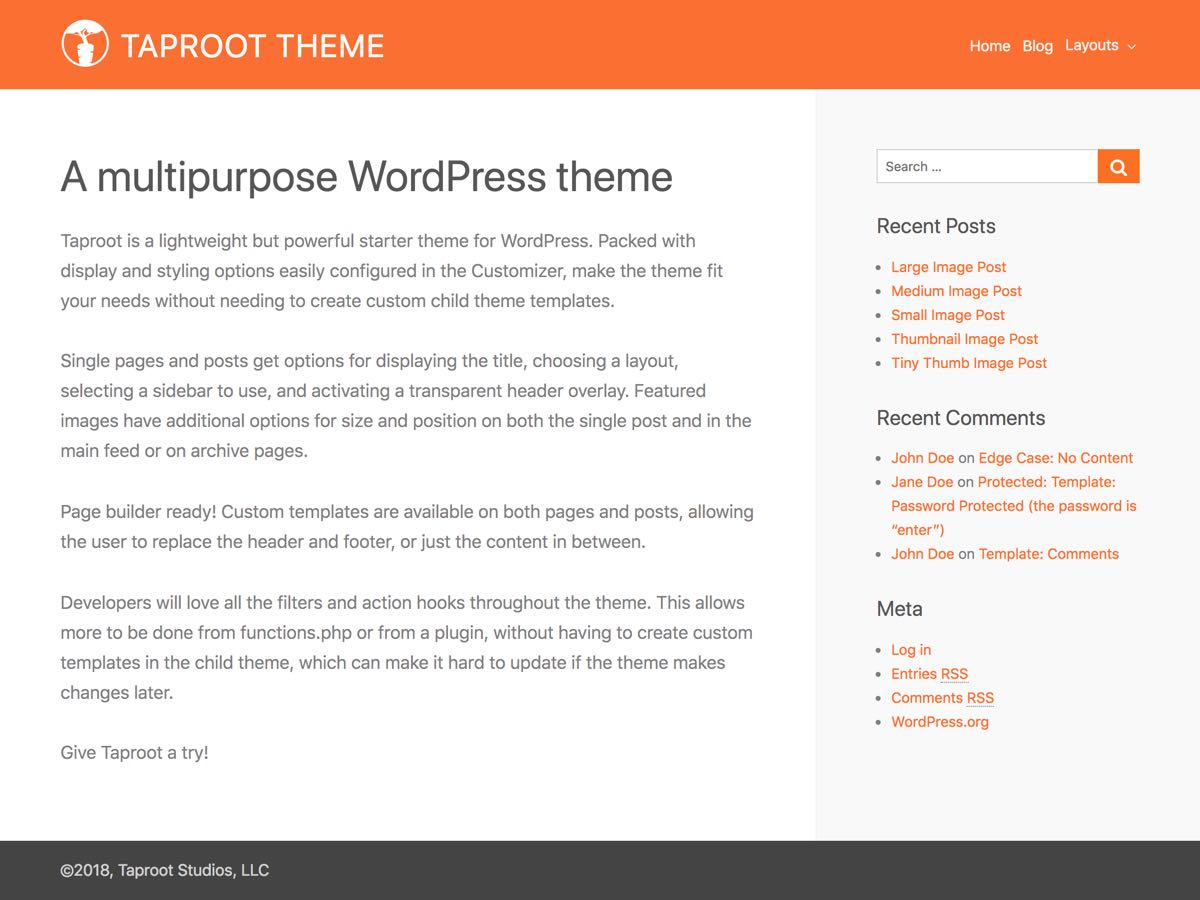 Taproot Download Free Wordpress Theme 2