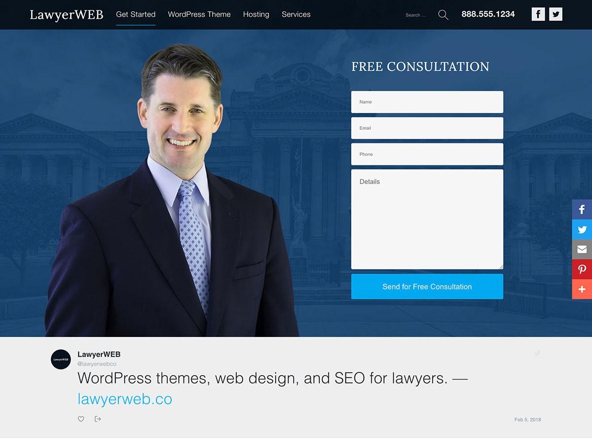 Lawyer WP Download Free Wordpress Theme 3