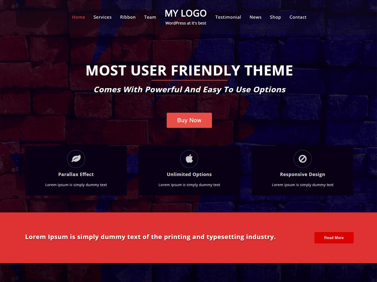 One Page Power Download Free Wordpress Theme 3