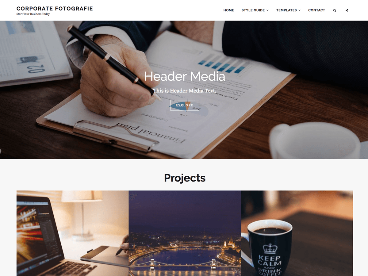 Corporate Fotografie Download Free Wordpress Theme 1