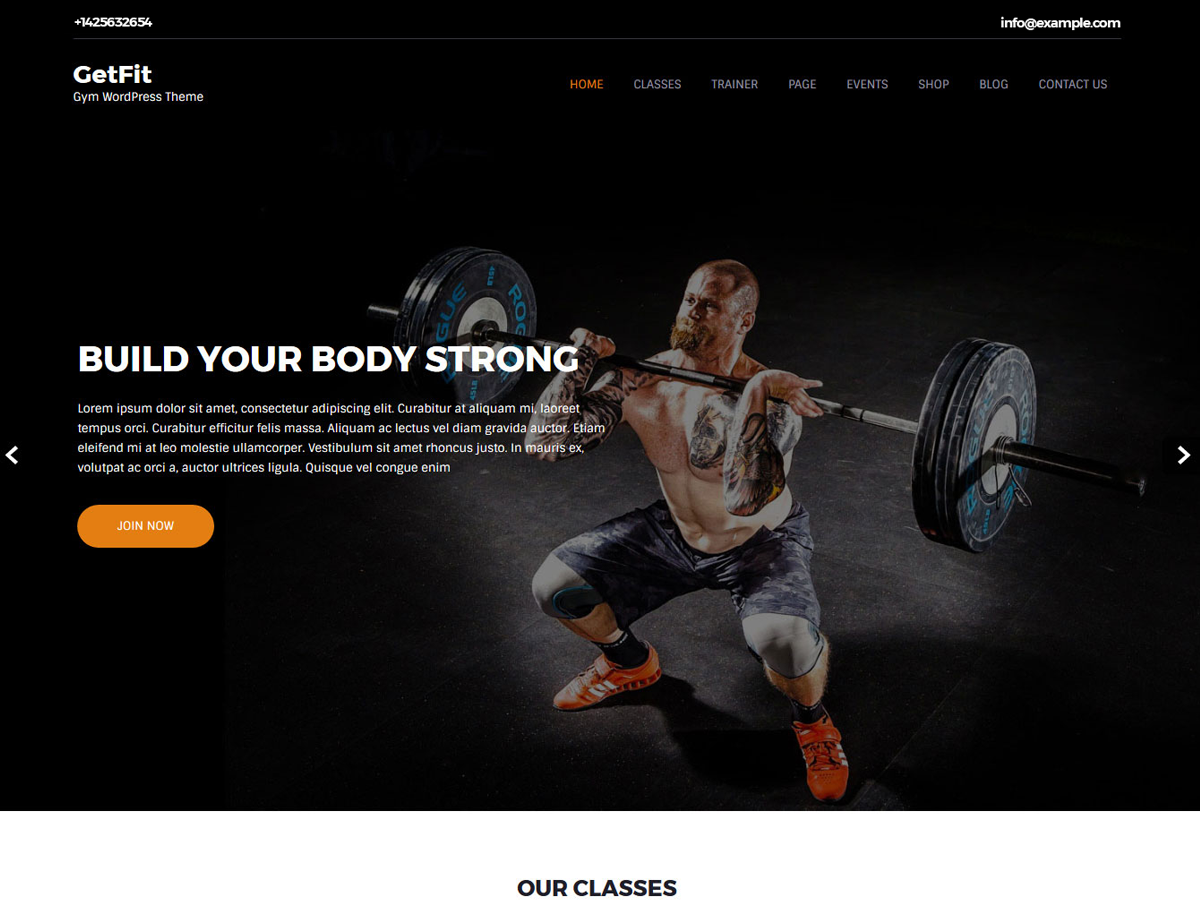 Getfit Lite Download Free Wordpress Theme 4