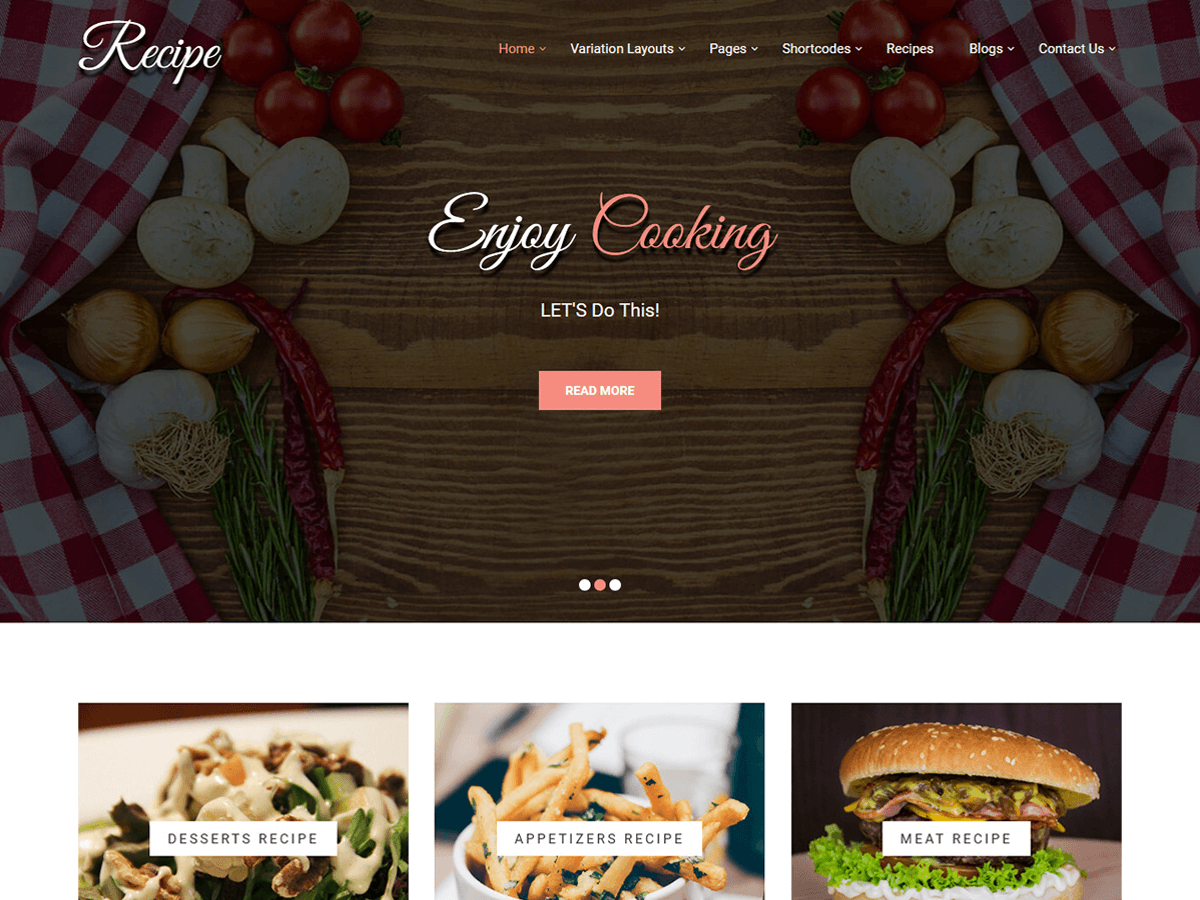 Recipe Lite Download Free Wordpress Theme 3