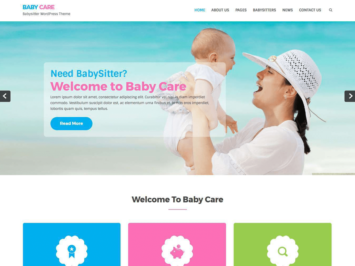 Babycare Download Free Wordpress Theme 1