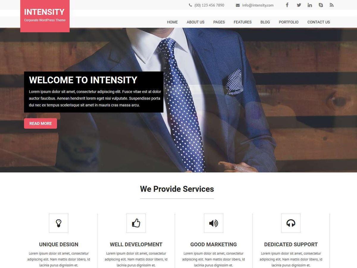 Intensity Lite Download Free Wordpress Theme 4