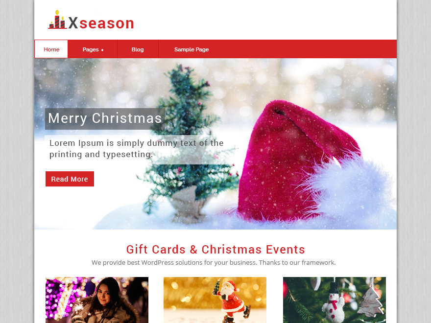 Xseason Download Free Wordpress Theme 4