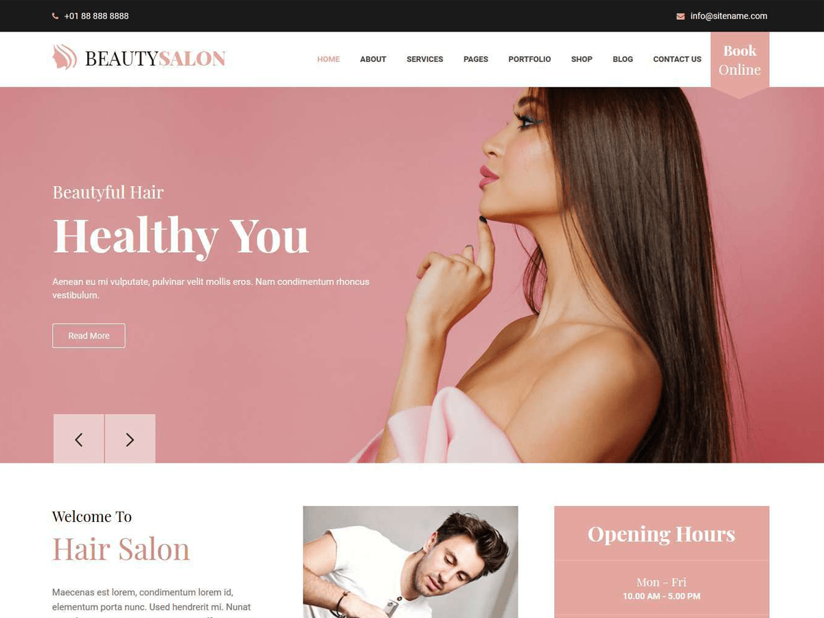 Belleza Download Free Wordpress Theme 3
