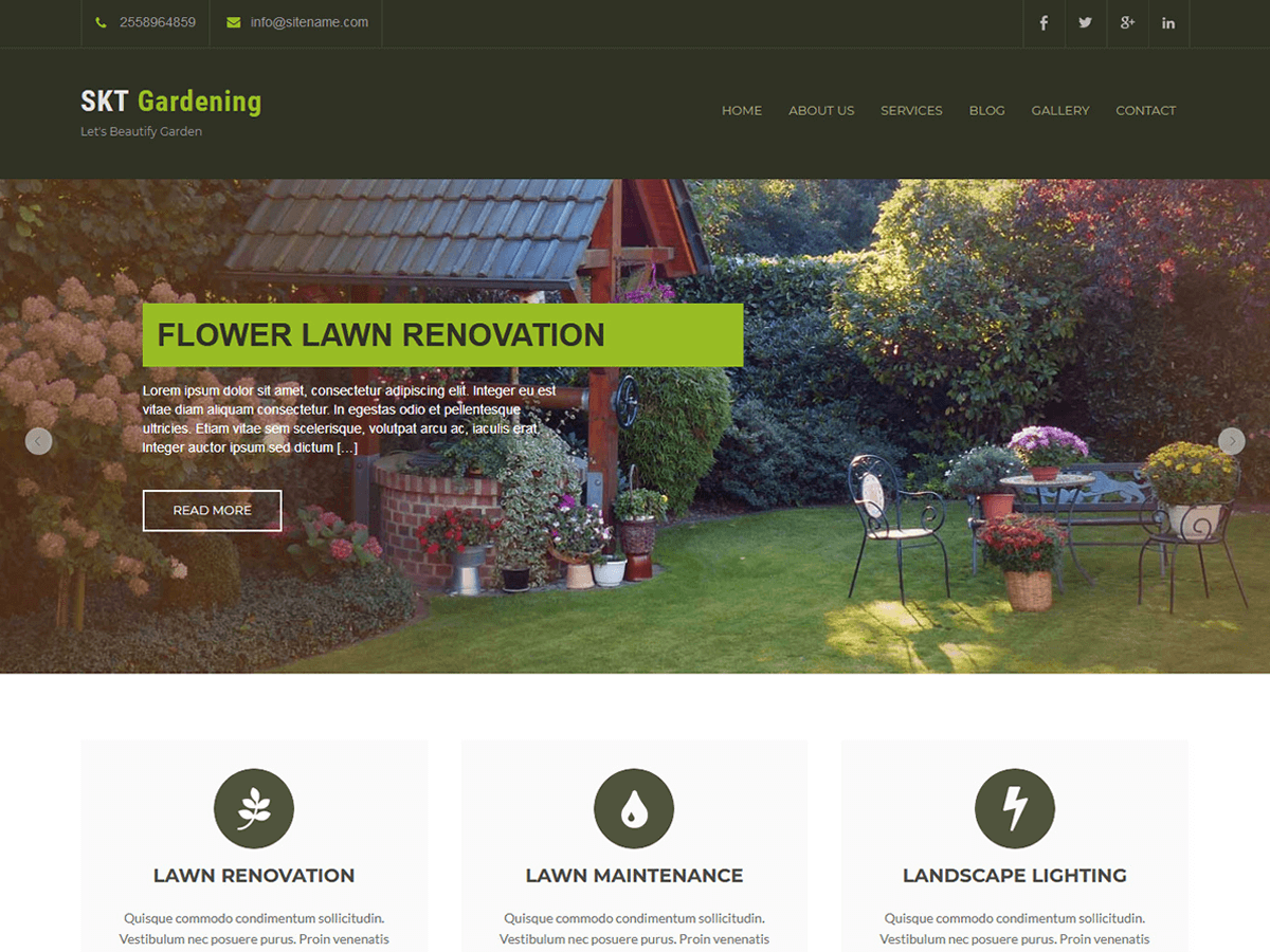 SKT Gardening Lite Download Free Wordpress Theme 4