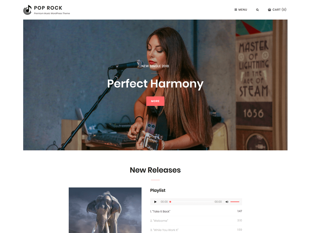 Pop Rock Download Free Wordpress Theme 3