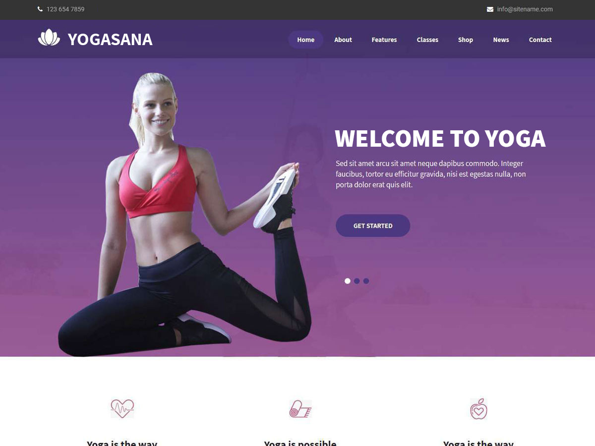 Yogasana Lite Download Free Wordpress Theme 4
