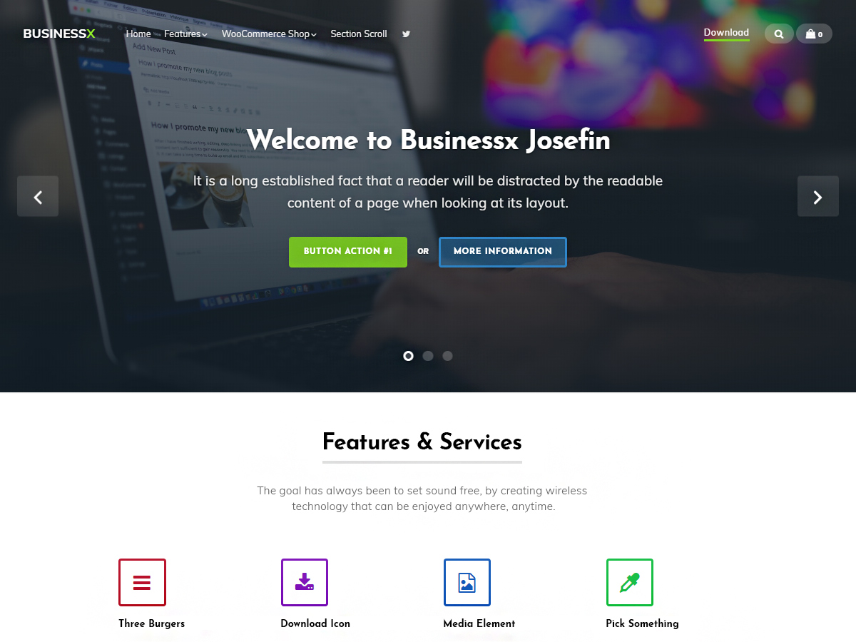 Businessx Josefin Download Free Wordpress Theme 4