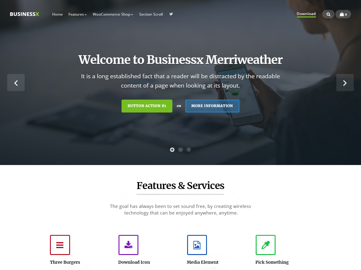 Businessx Merriweather Download Free Wordpress Theme 5