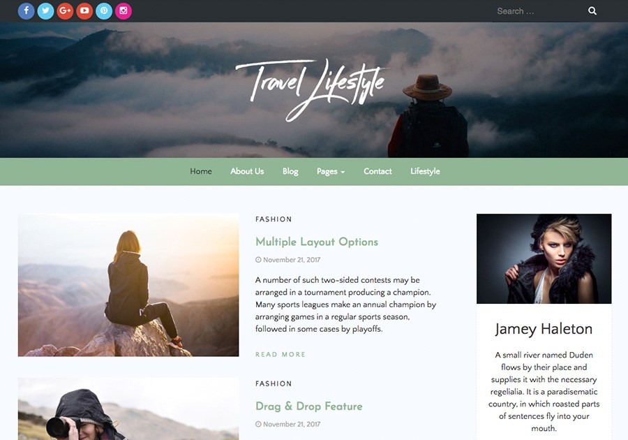 Travel Lifestyle Download Free Wordpress Theme 3