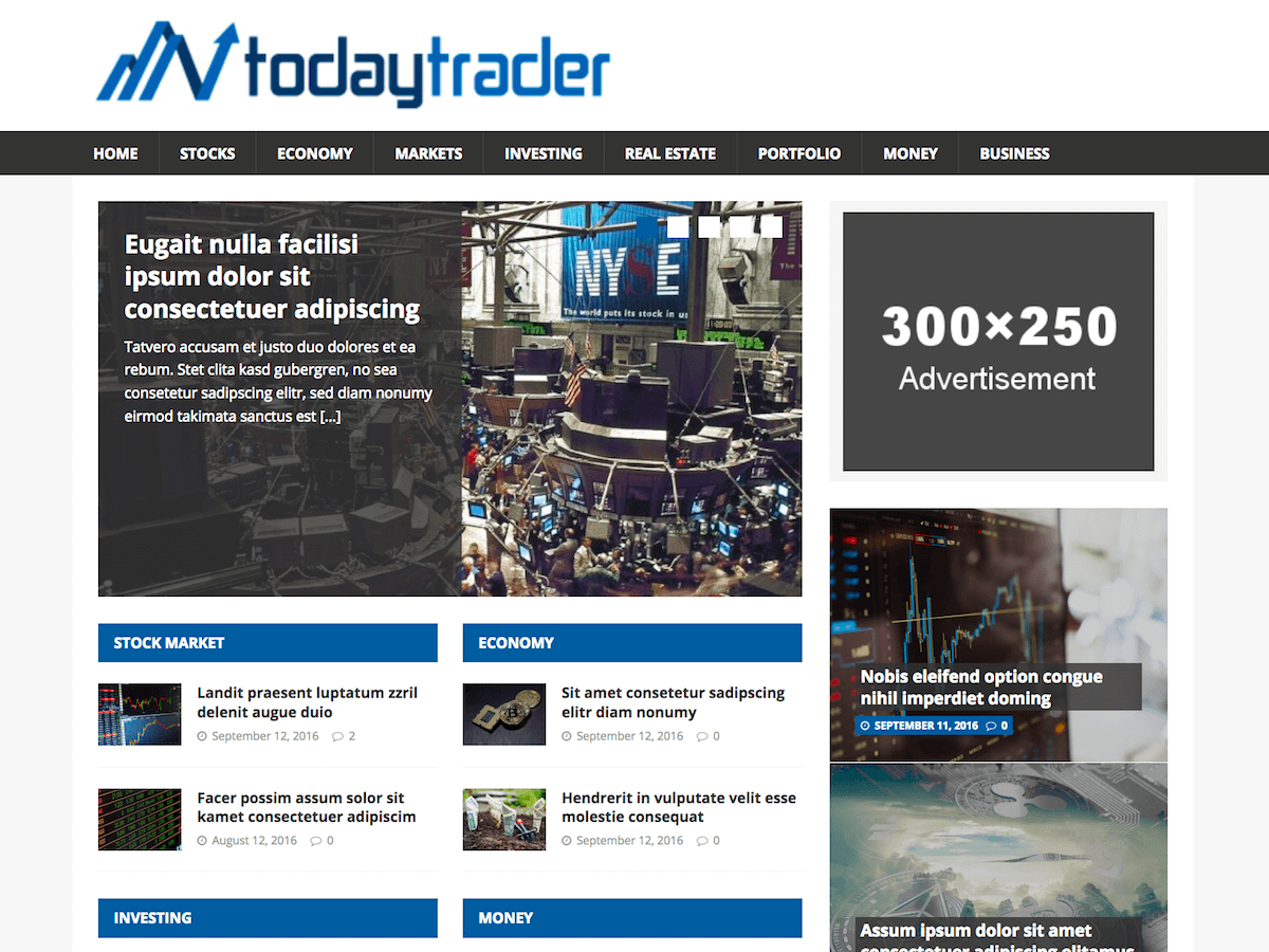 Financial News Download Free Wordpress Theme 2