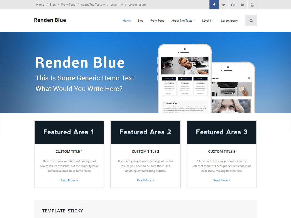 Renden Blue Download Free Wordpress Theme 5
