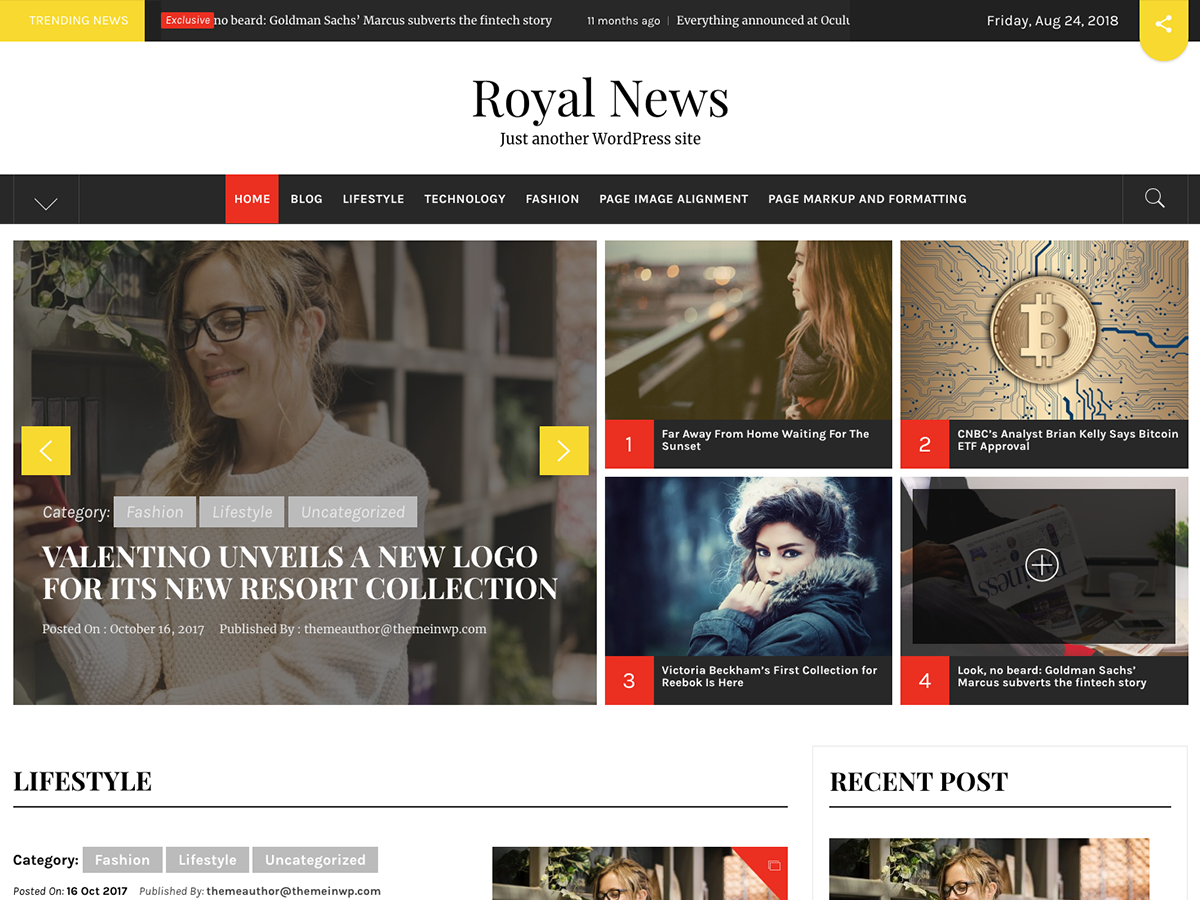 Royal News Download Free Wordpress Theme 4