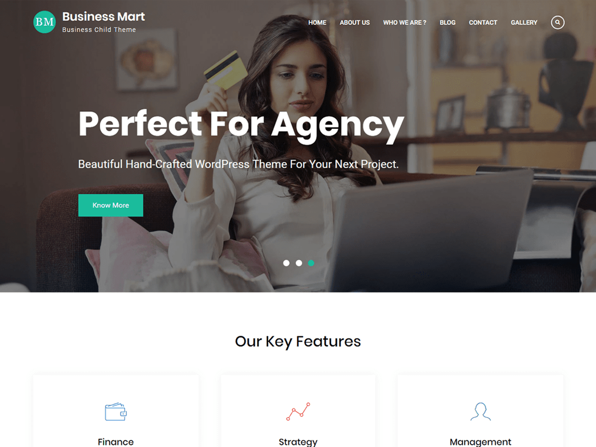 Business Mart Download Free Wordpress Theme 2