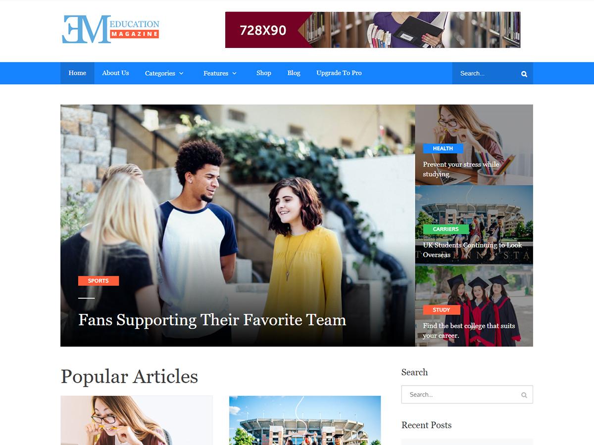 EduMag Download Free Wordpress Theme 1