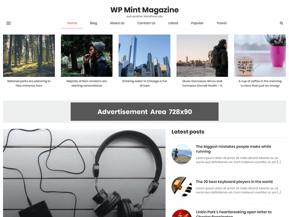 WP Mint Magazine Download Free Wordpress Theme 3