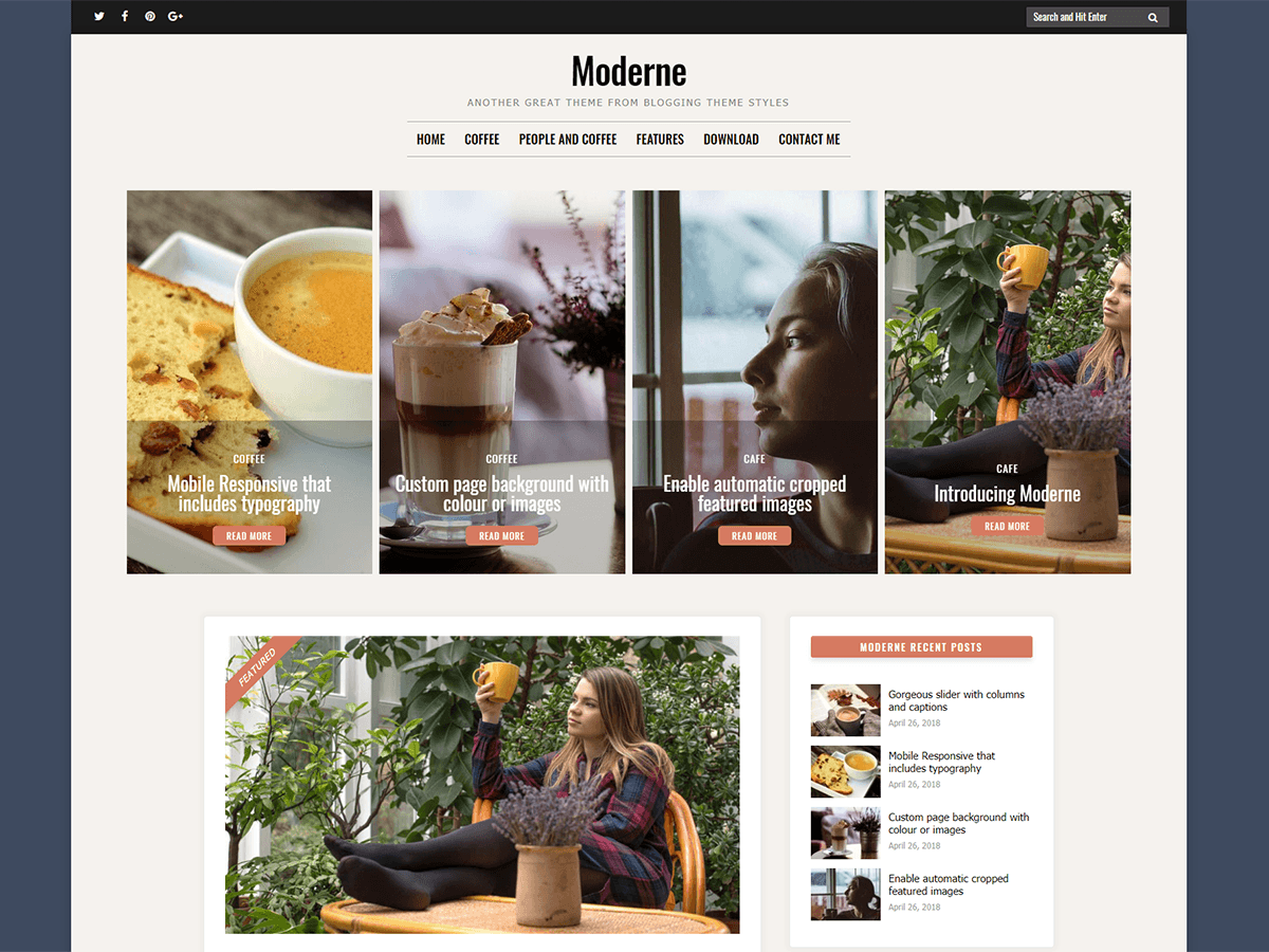 Moderne Download Free Wordpress Theme 5