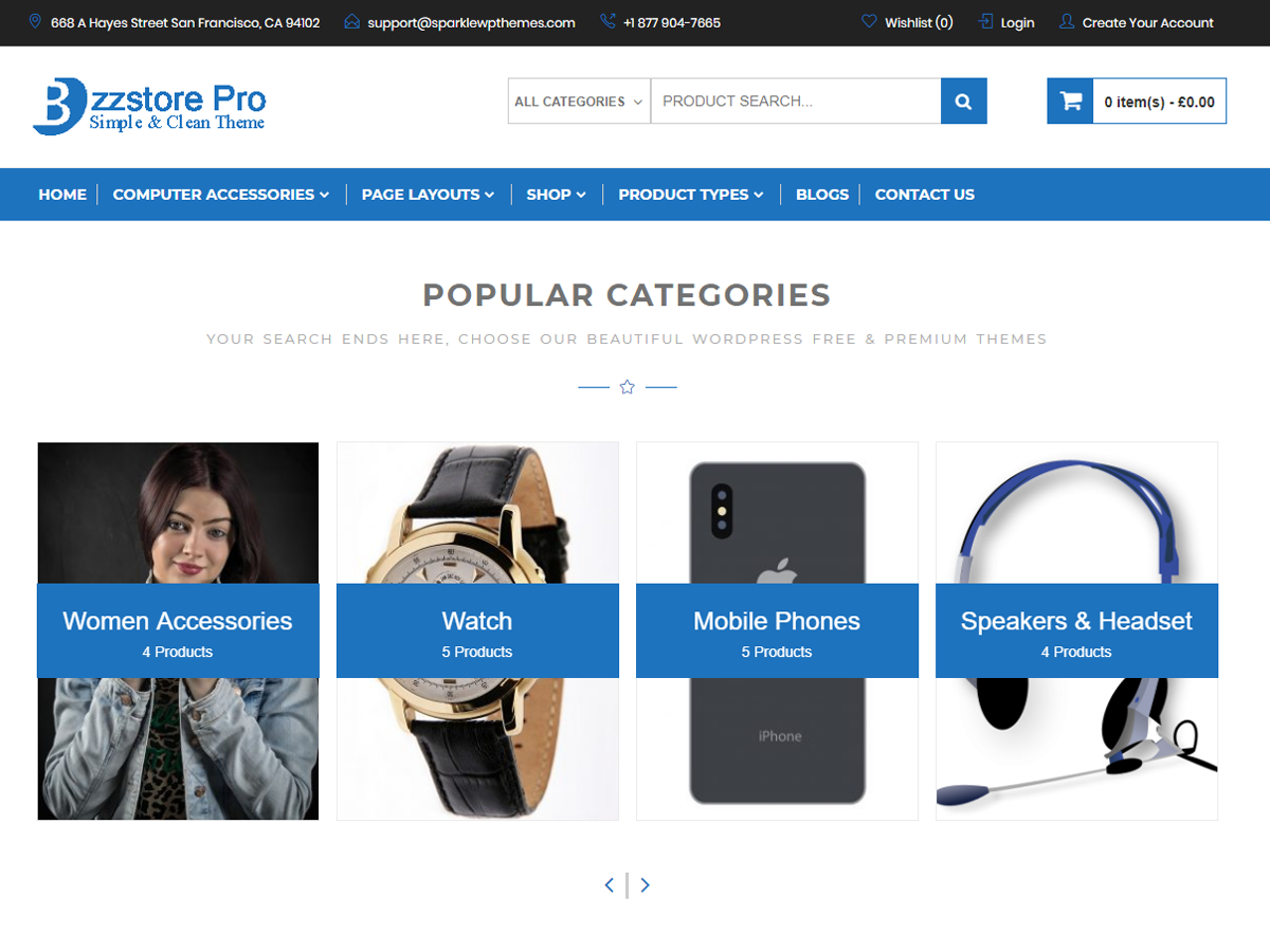 Online eCommerce Download Free Wordpress Theme 3