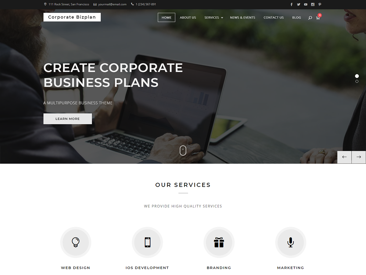 Corporate Bizplan Download Free Wordpress Theme 5