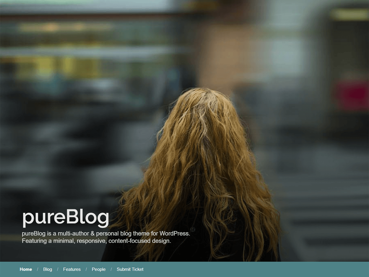 PureBlog Download Free Wordpress Theme 1