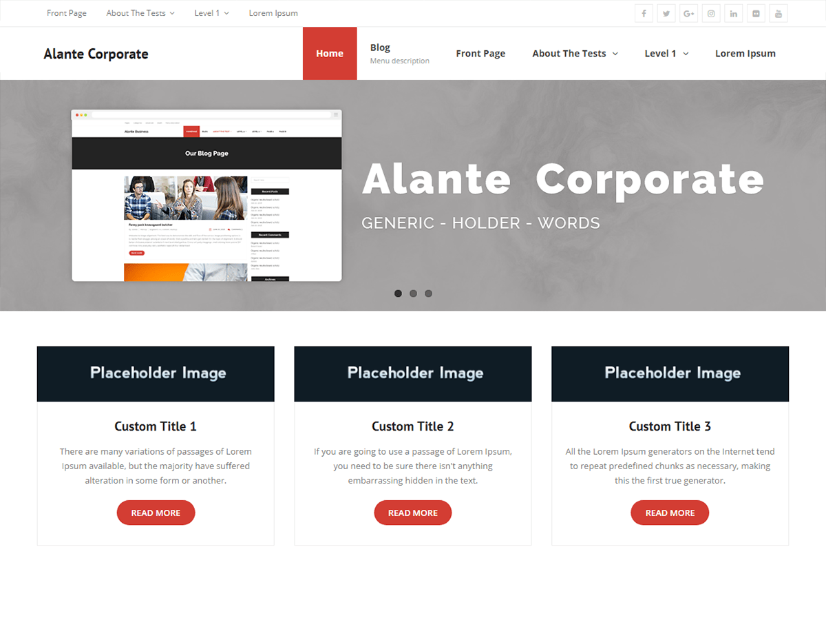 Alante Corporate Download Free Wordpress Theme 4