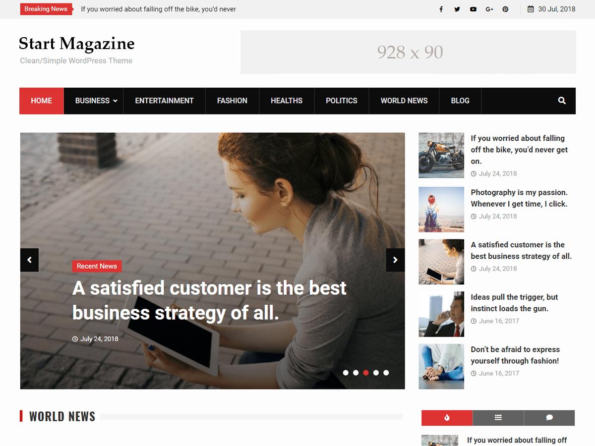 Start Magazine Download Free Wordpress Theme 1