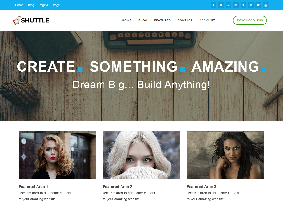 Shuttle pureBusiness Download Free Wordpress Theme 1
