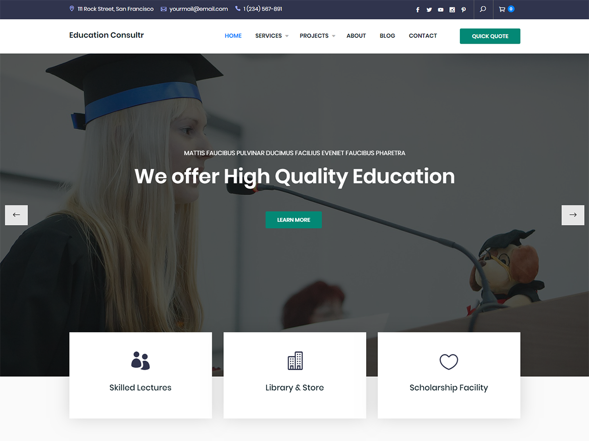 Education Consultr Download Free WordPress Theme