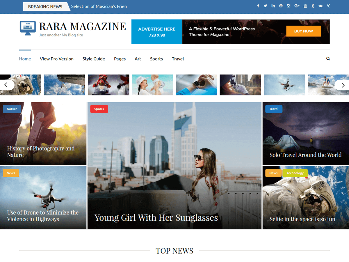 Rara Magazine Download Free Wordpress Theme 1