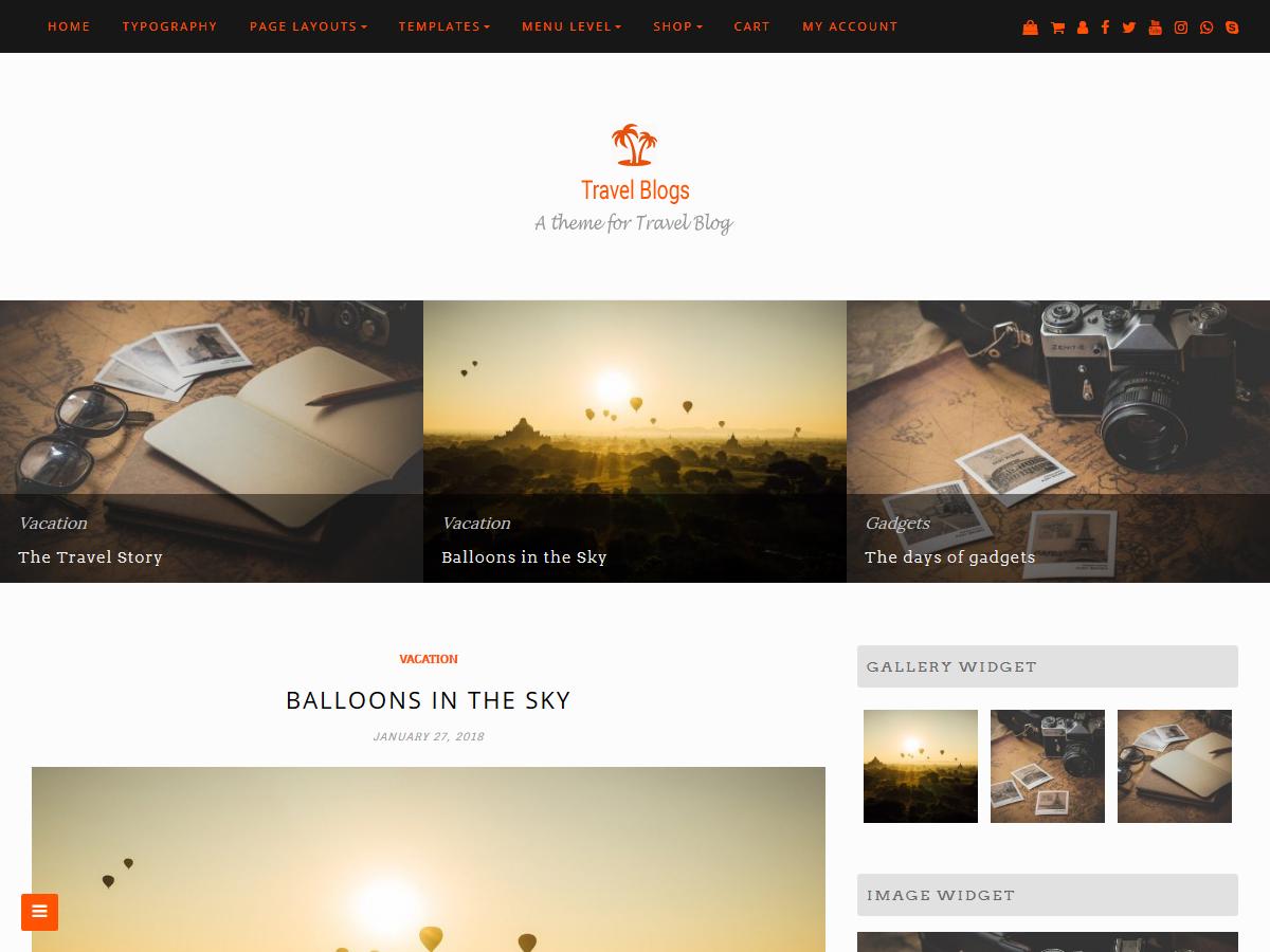Travel Blogs Download Free Wordpress Theme 4