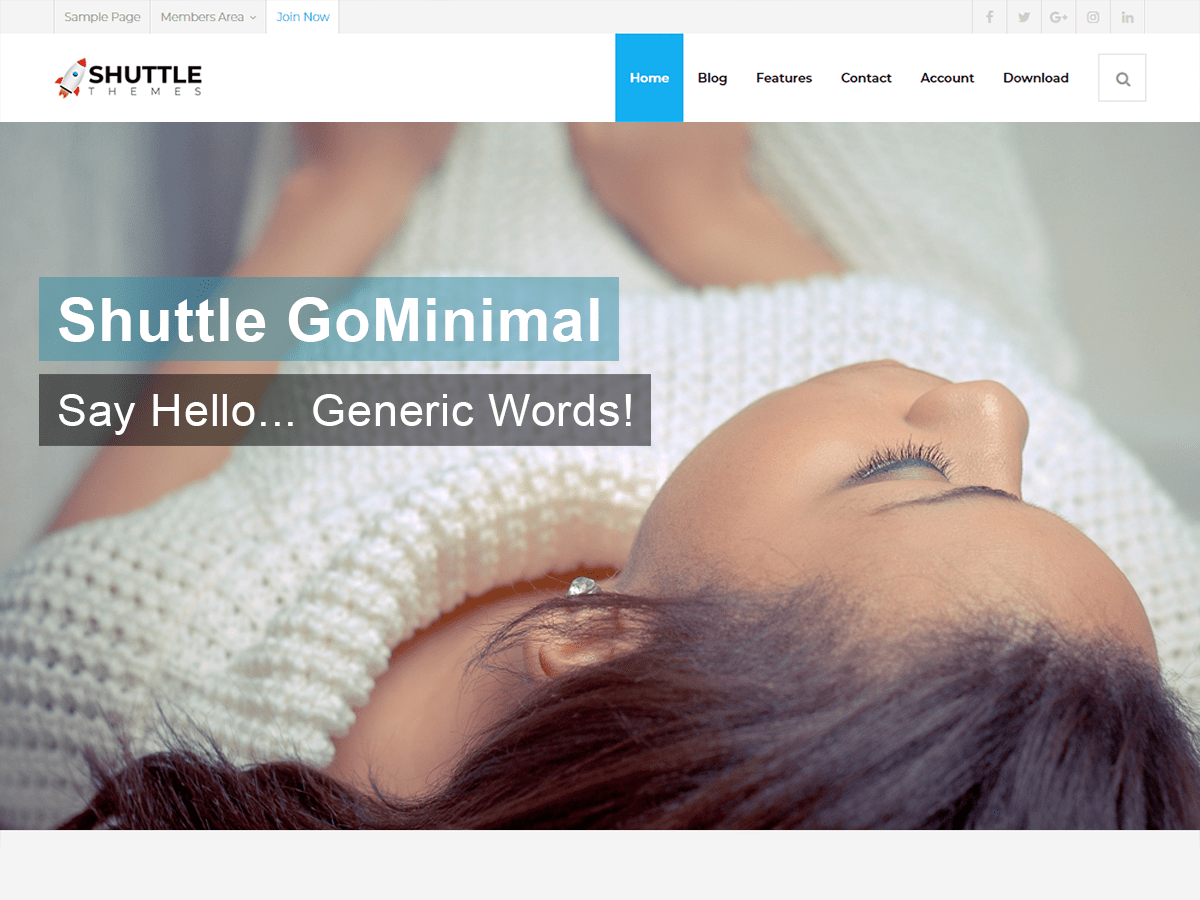 Shuttle goMinimal Download Free Wordpress Theme 2
