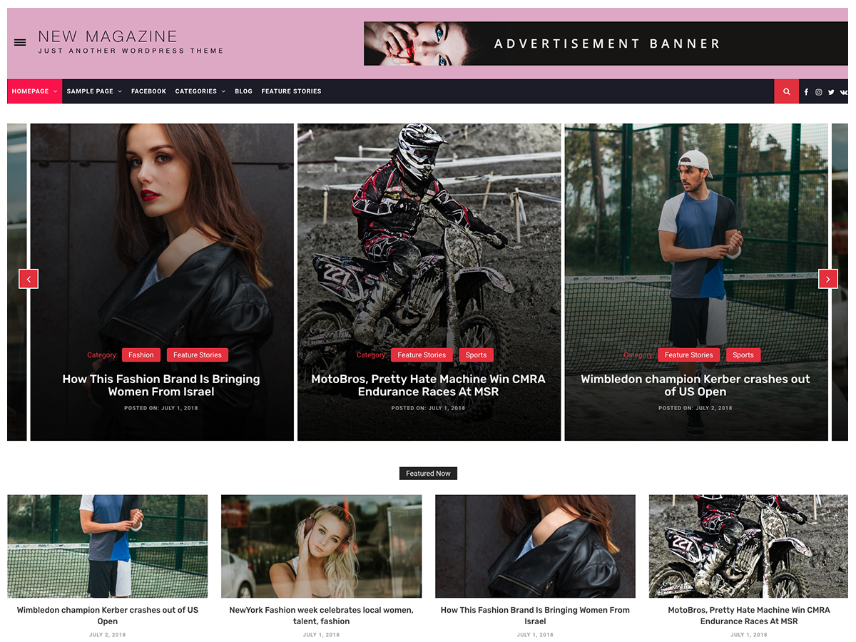 New Magazine Download Free Wordpress Theme 1
