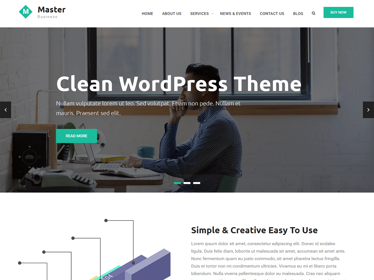 Master Business Download Free Wordpress Theme 2