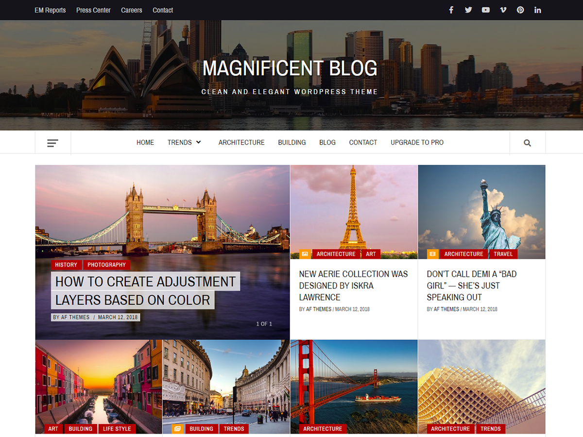 Magnificent Blog Download Free Wordpress Theme 2
