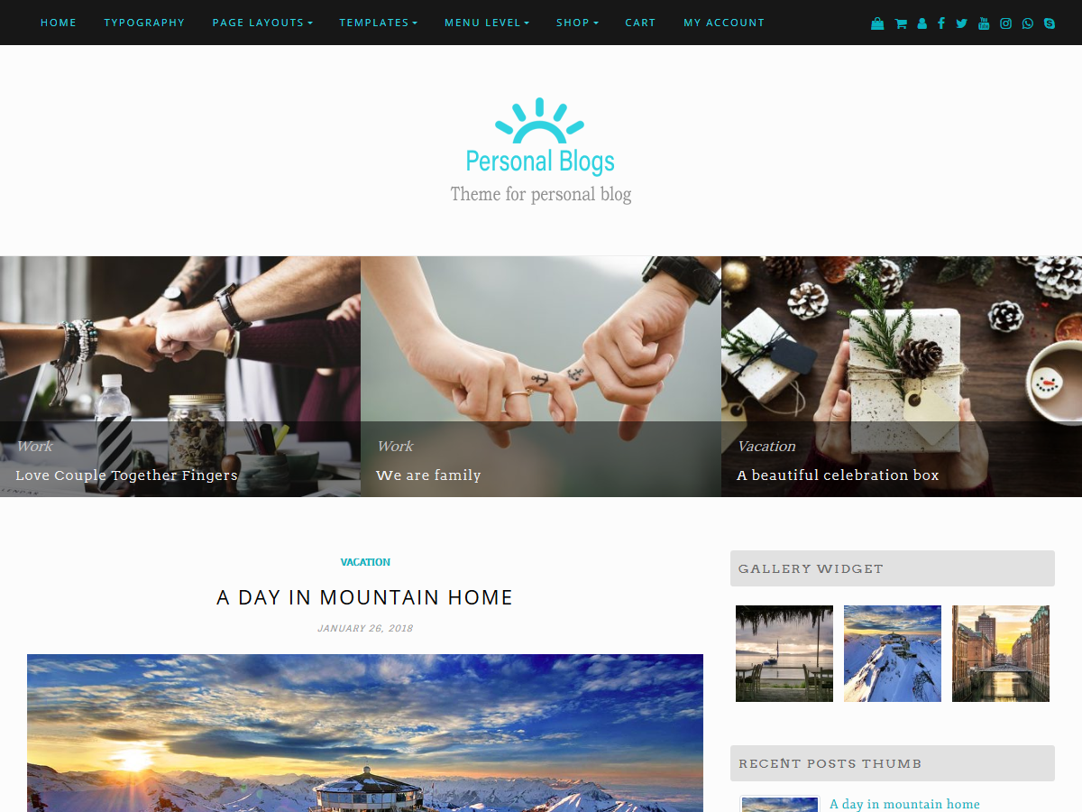 Personal Blogs Download Free Wordpress Theme 3