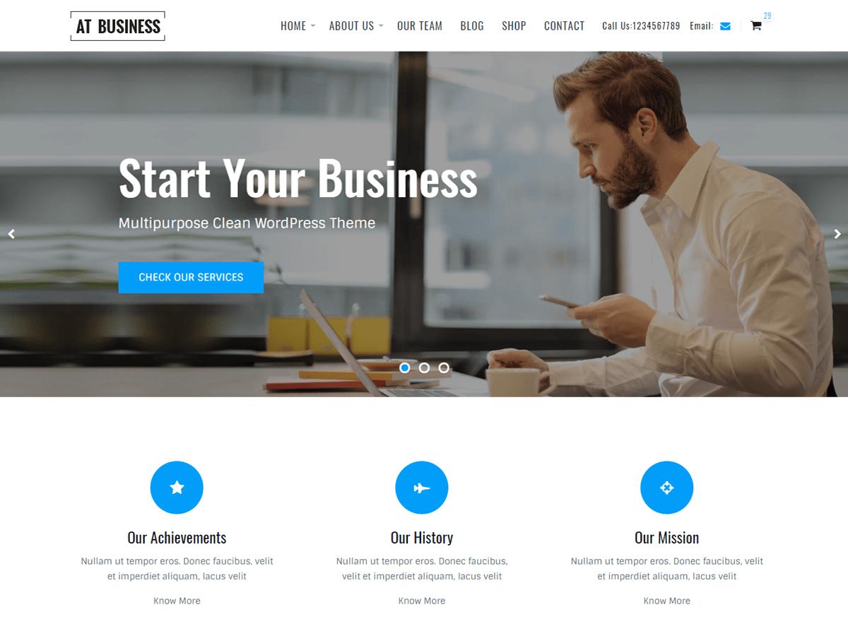 AT Business Download Free Wordpress Theme 1