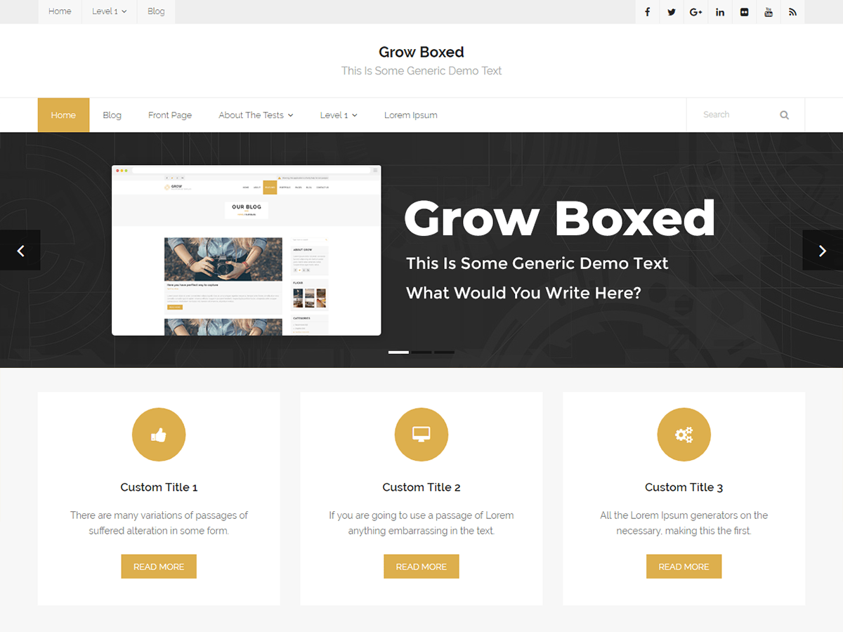 Grow Boxed Download Free Wordpress Theme 3
