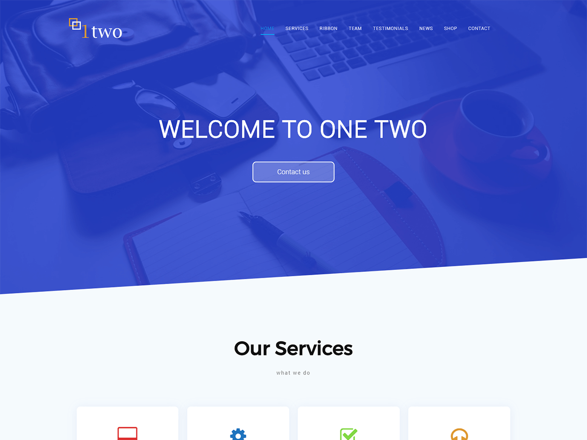 One Two Download Free Wordpress Theme 1
