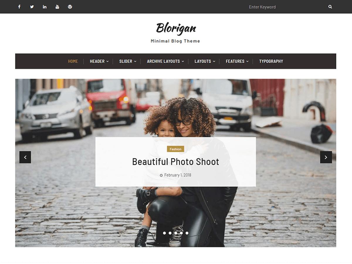 Blorigan Download Free Wordpress Theme 2